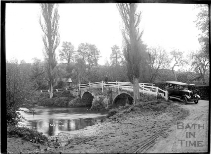 The packhorse bridge and ford, Wellow c.1930s