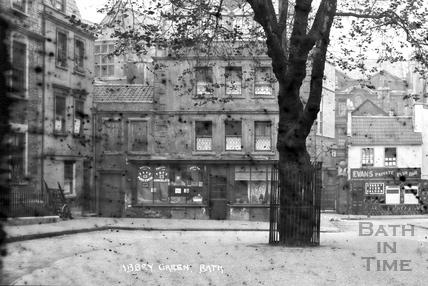 Abbey Green, Bath c.1910 - detail