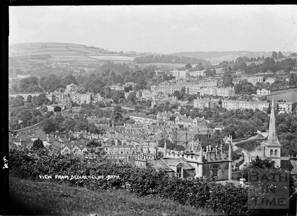 View of Bath from Beechen Cliff June 1936