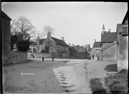 Children playing in the High Street, Wellow c.1930s