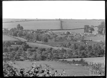 The railway and village view at Wellow c.1930s
