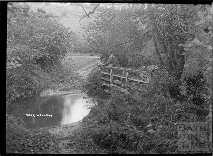 Tranquil river scene near Wellow c.1950s