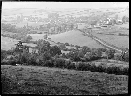 Distant view of Wellow c.1930s
