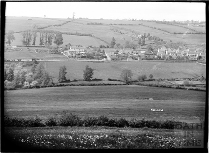 View of Wellow and the railway c.1930s