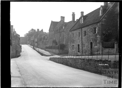 View up the High Street, Wellow, April 1938?
