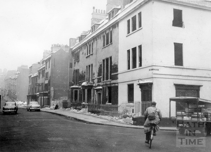 The final days of houses in Charles Street, prior to demolition, Jan 1963