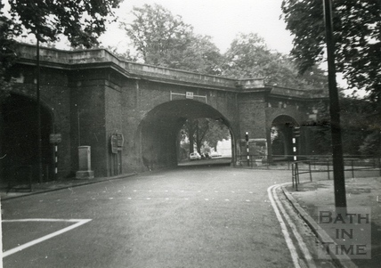 The original railway bridge on Pulteney Road c.1970s