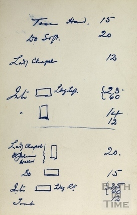 Notes by GL Dafnis for a postcard order, c.1952