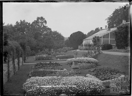 The gardens, Claverton Manor, c.1930s