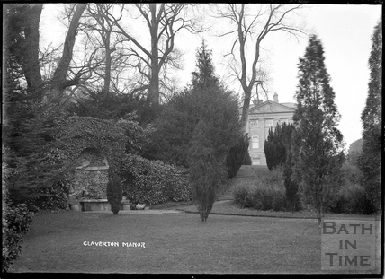 Claverton Manor from gardens, c.1930s
