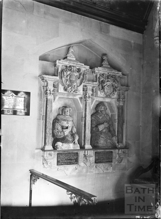 Memorial inside Claverton Church, c.1906