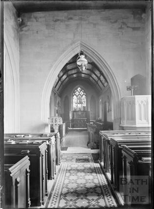 Inside Claverton Church c.1906