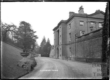 Claverton Manor, west entrance, c.1930s