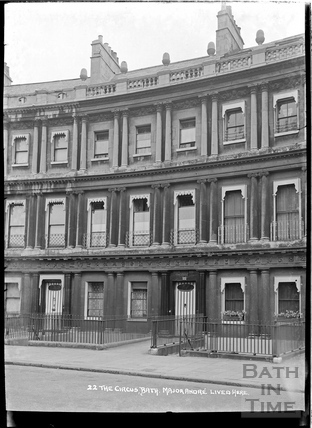 22 The Circus, where Major Andre once lived, c.1920s