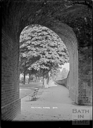 Pulteney Road viewed under the railway bridge, c.1938