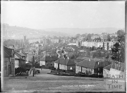 View from the Tyning, April 1950