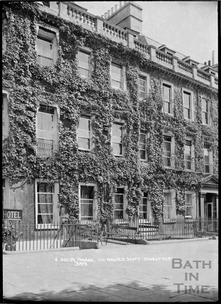 6 South Parade, former dwelling of Sir Walter Scott, c.1920s