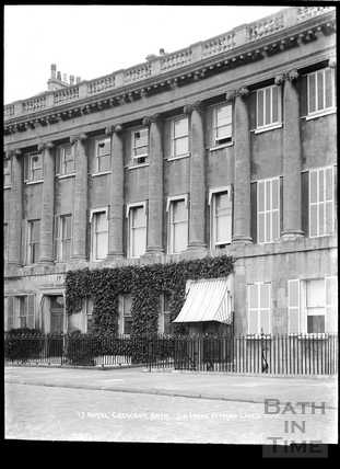 17 Royal Crescent, home of Sir Isaac Pitman, c.1920s