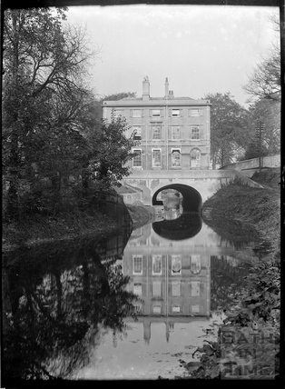 The Kennet and Avon Canal and Cleveland House, Bathwick, Bath c.1950