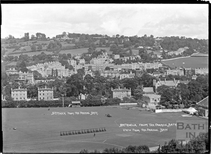 Bathwick from the upper floors of the Parade, July 1938
