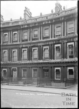 24 The Circus, former home of Thomas Gainsborough, c.1920s