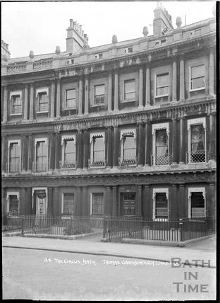 24 The Circus, former home of Thomas Gainsborough, c.1920s