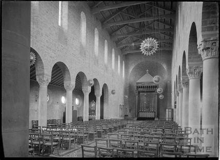Inside St Alphege Church, Oldfield Park, c.1936