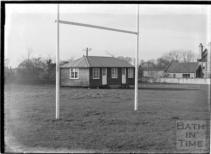 Old Edwardian's Rugby Clubhouse and rugby pitch, Odd Down, c.1930s