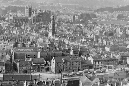 View of Bath from Beechen Cliff 1906 - detail