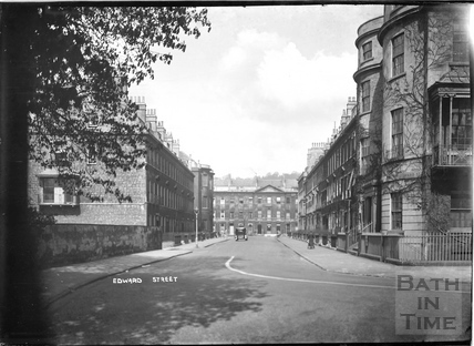 Edward Street, looking towards Great Pulteney Street, Bathwick, c.1930s