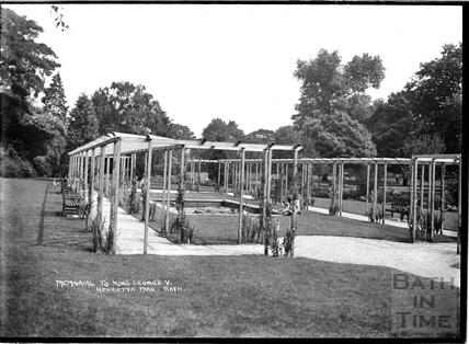 Memorial to King George V, Henrietta Park, Bathwick, c.1930s