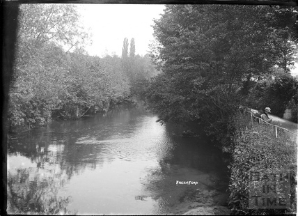 Beside the river at the mill, Freshford, c.1920s