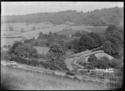 View of Dundas Aqueduct and Conkwell Woods, c.1930s