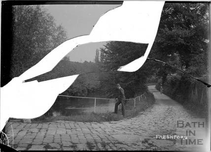 Man on bridge at Freshford c.1920s