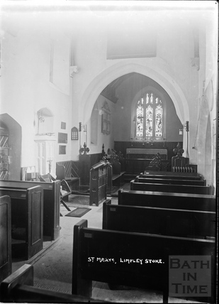 Inside St Mary's Church, Limpley Stoke c.1920s
