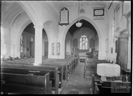 Inside Freshford church, c.1938