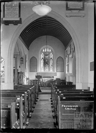 Inside Freshford Church, c.1920s