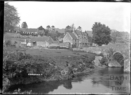 The river and Inn at Freshford No.11, c.1938