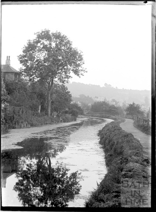 The Kennet and Avon Canal by Sydney Buildings, Bath c.1930