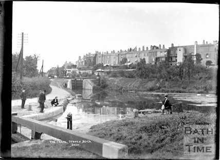 The Kennet and Avon Canal and view of Sydney Buildings, Bath c.1930