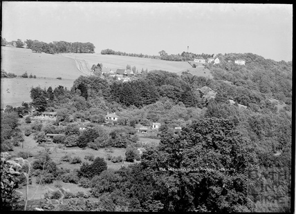 View across the valley of Winsley Hill and houses near Murhill, 1932
