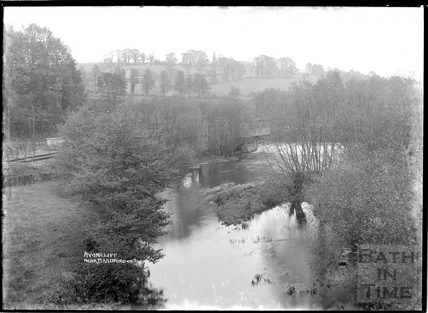 The river Avon at Avoncliff, nr Bradford on Avon, c.1938