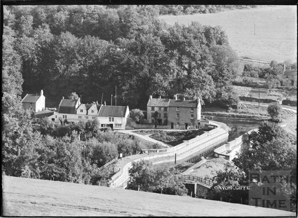 View of Avoncliff Aqueduct, the Cross Guns and Kennet and Avon Canal c.1938