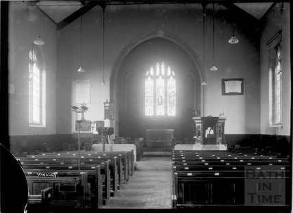 Inside Winsley Church, 1932