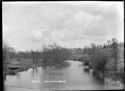 The River Avon from the Grosvenor Bridge, Lambridge, c.1904