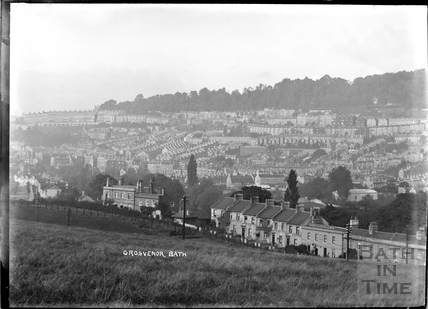 View of Grosvenor from the Warminster Road, looking over Hampton Row, c.1904