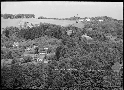 The Sanatorium stands high above the wooded hills of Winsley c.1939