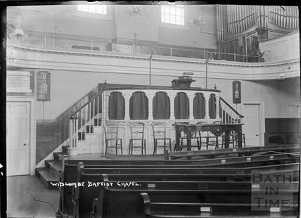 Inside Widcombe Baptist Chapel c.1920s