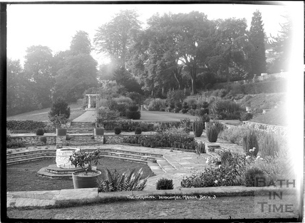 The gardens and sunken terrace, Widcombe Manor No.3 c.1935