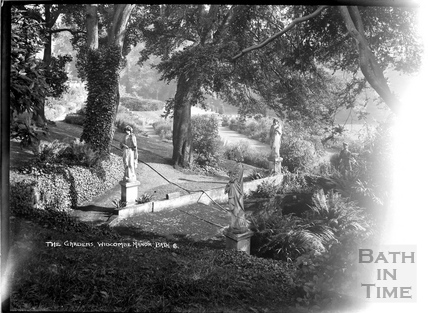 The gardens and statues, Widcombe Manor No.6 c.1935